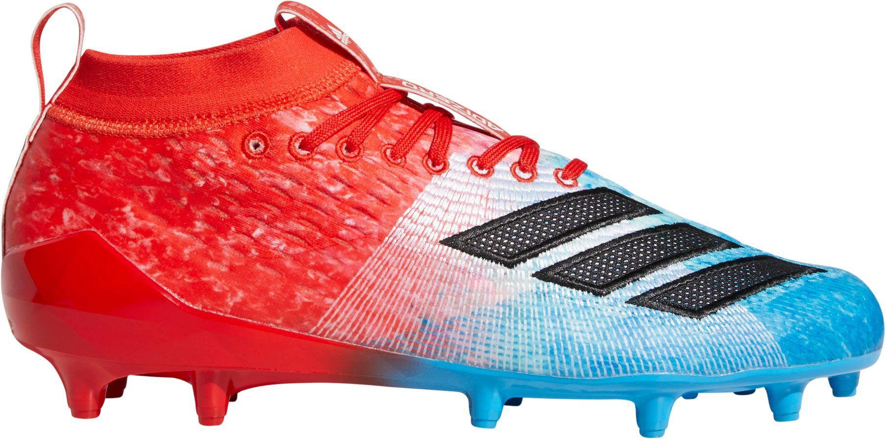 4f60cb2f262a36 adidas Men's adizero 8.0 Snow Cone Football Cleats, Size: 15.0, Blue