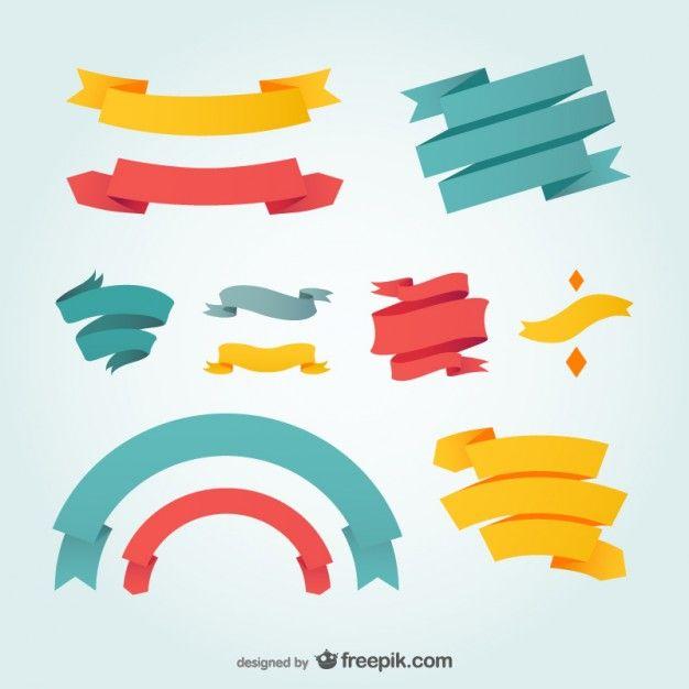 Gráfico fitas desenho vetorial | Ribbon design