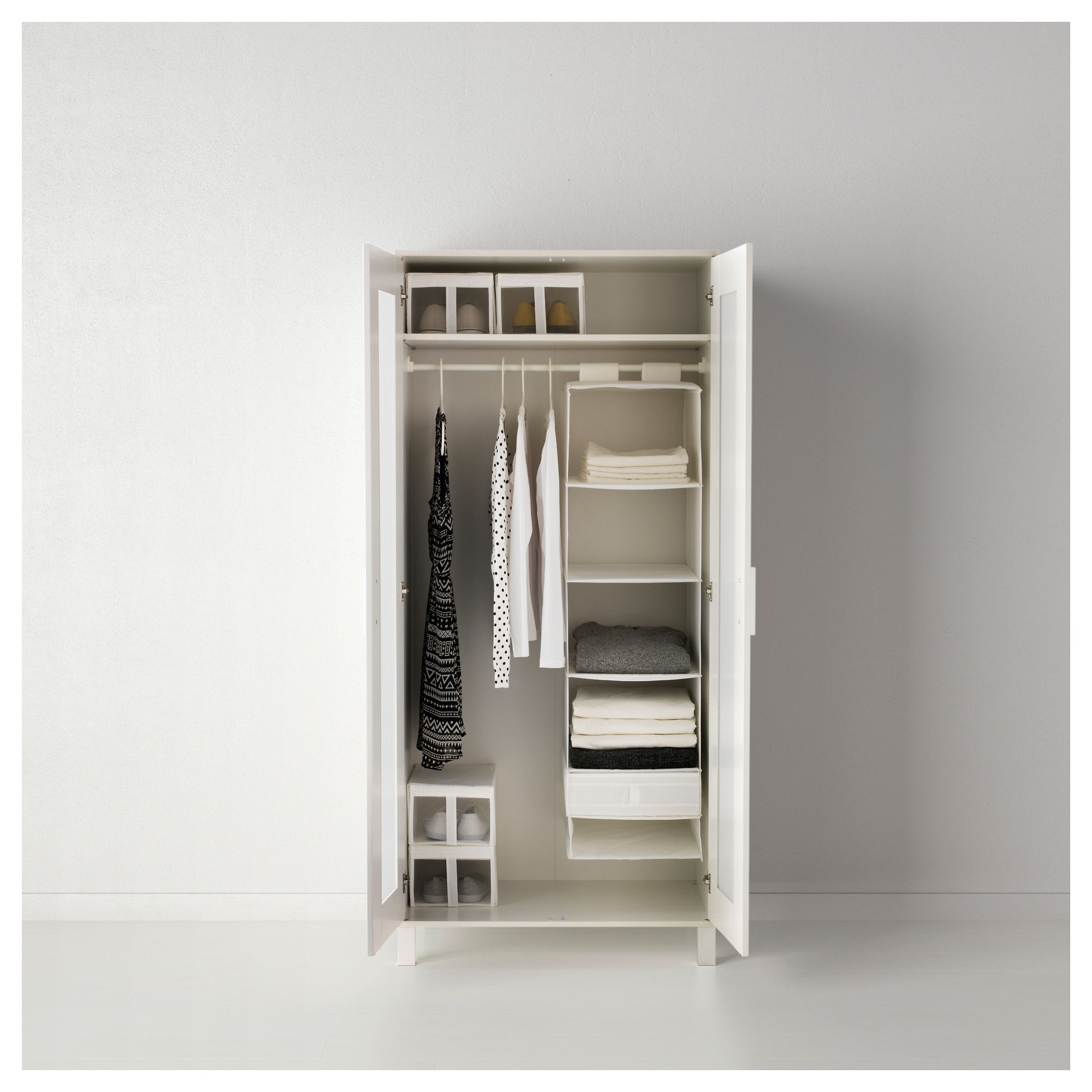IKEA - SKUBB, Organizer with 6 compartments, black, , Takes little room to store as it folds flat.