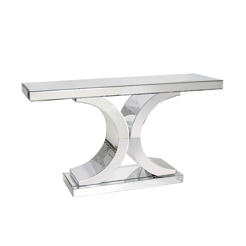 rectangular mirrored double c console decor luxury on small entryway console table decor ideas make a statement with your home s entryway id=82194