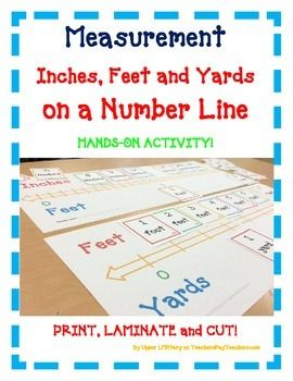 Measurement Number Line Inches Feet Yards A Fun Hands On Activity Number Line Hands On Activities Inch Feet