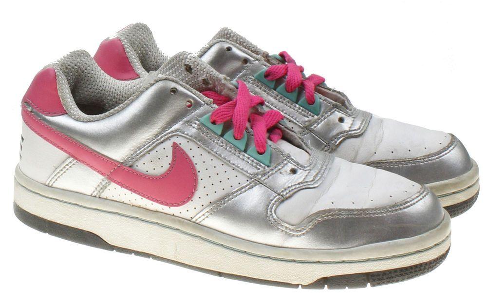 free shipping 1b8c1 354ba Nike Dunk Low GS – White Metallic Silver Pink VTG Kids 4.5Y Womens 6  Sneakers  nike  nikedunk  sneakers