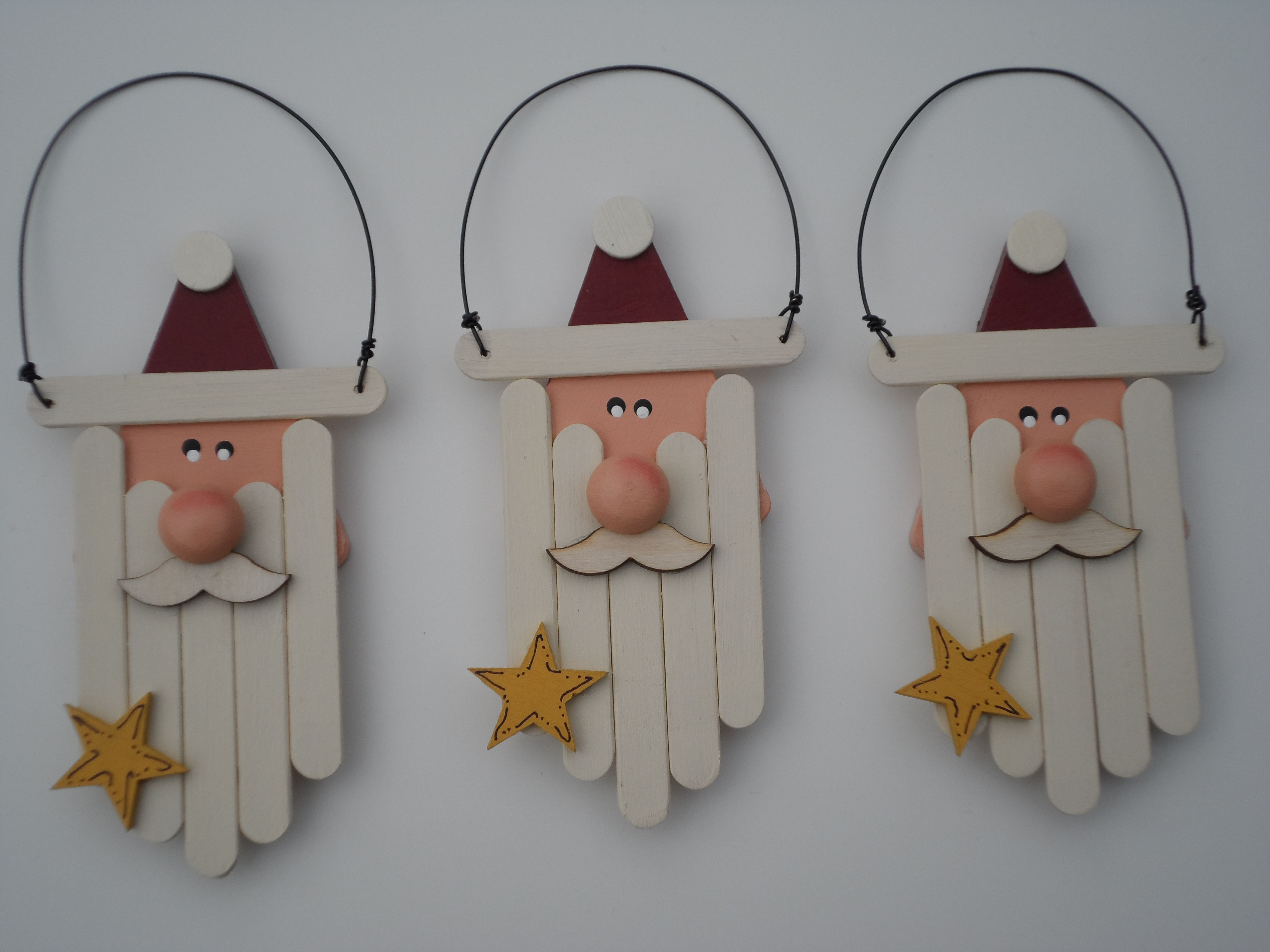 Handmade Christmas Ornaments - Popsicle Stick Sleds | Vignettes ...