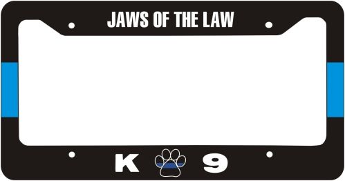 Item # LPF-305: Thin Blue Line K-9 Jaws of The Law License Plate ...