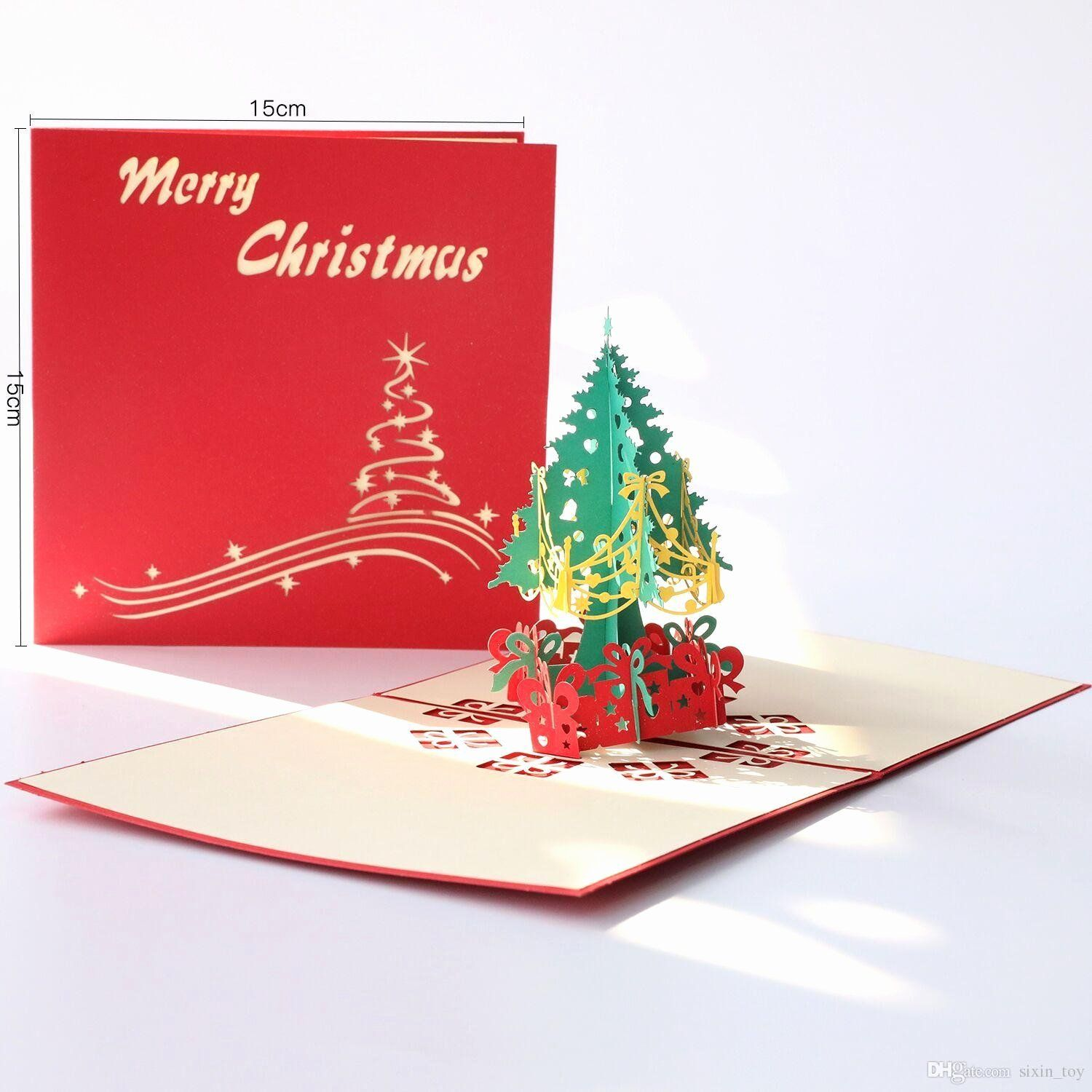 Romantic Greetings Cards in 2020 Christmas tree cards