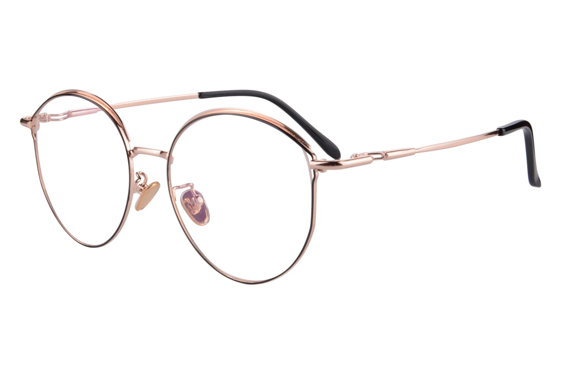 f48d5d6cba37 SHINU Retro Round Metal Frame Eye Protection Transition Anti-blue Light  Myopia Glasses-2147