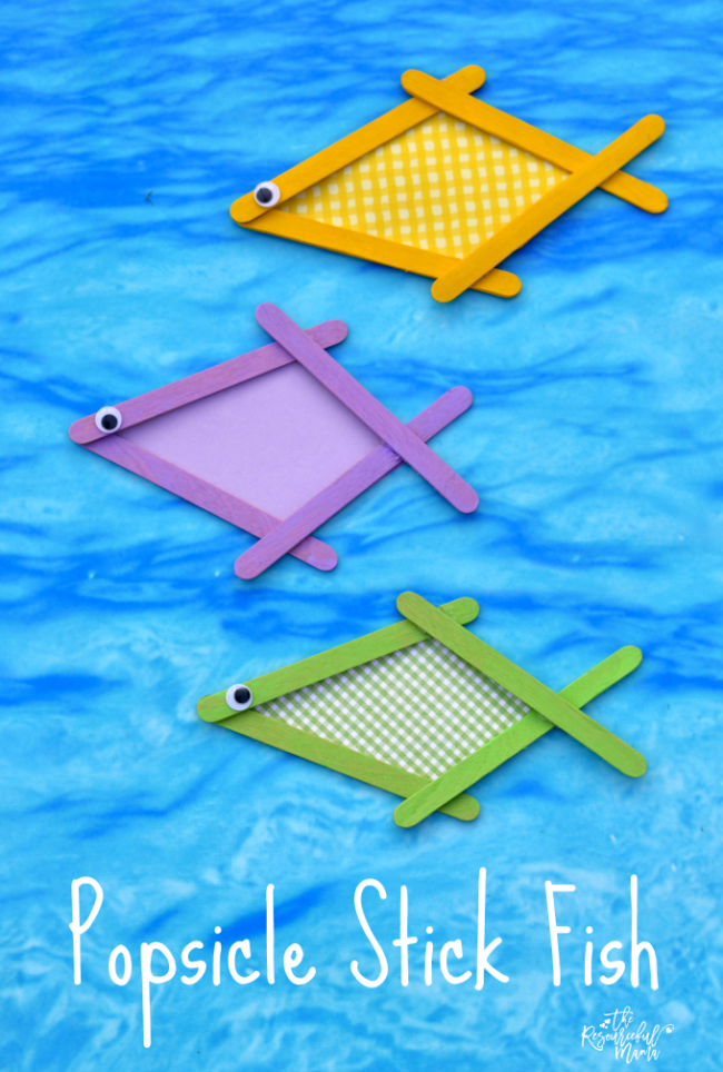 Popsicle Stick Fish Craft Kids Crafts Activities Learning Ideas