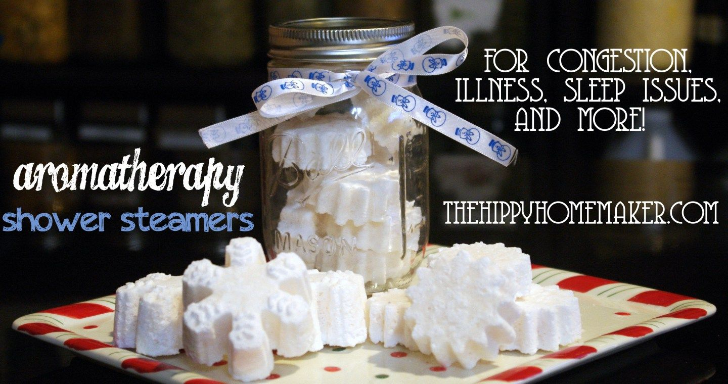 DIY Aromatherapy Shower Steamers for Congestion, Illness, Sleep Issues, and More!