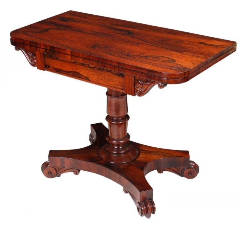 William Iv Rosewood Card Table With Images Table Table Cards