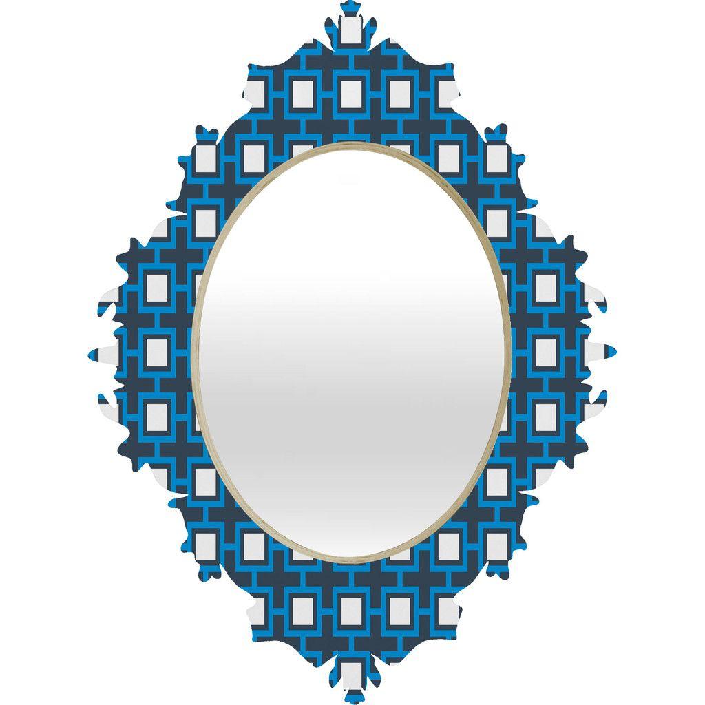Concentric Square Baroque Mirror | DENY Designs Home Accessories #college #home #mirror #dorm #apartment #decorate #frame