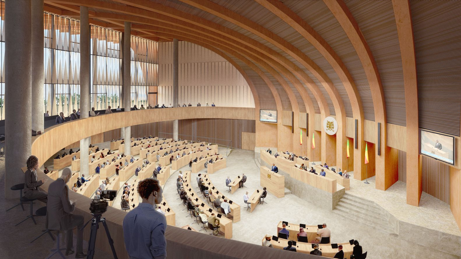 Gallery of Kéré Architecture Proposes New Design for Benin s National Assembly in Porto Novo 5