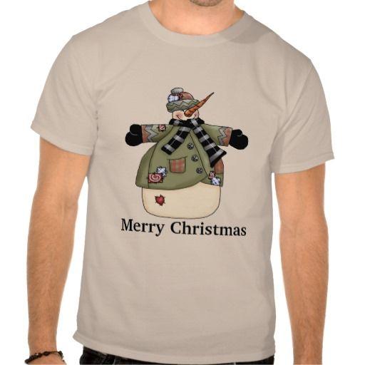 Christmas Snowman Holiday cartoon t-shirt