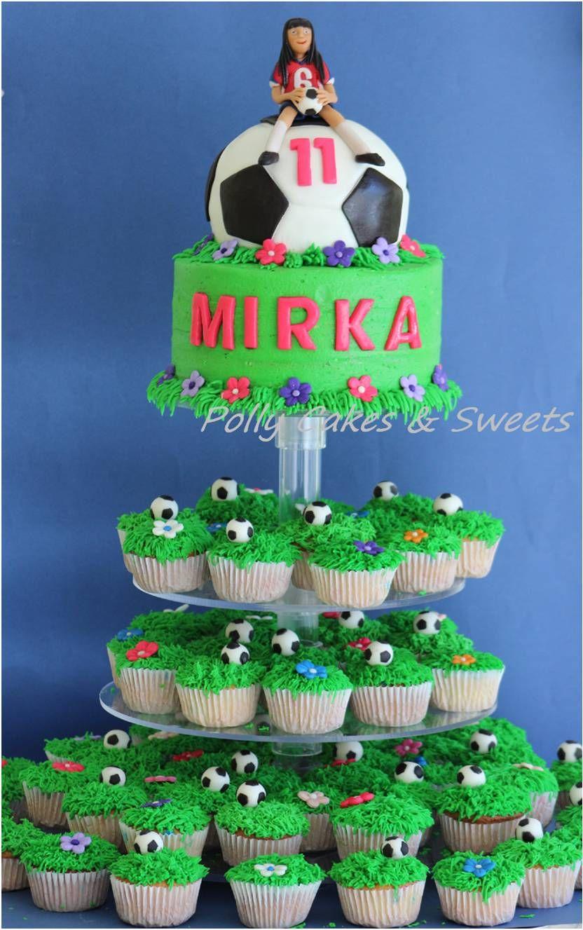 Pastel Y Cupcakes Balón Futbool