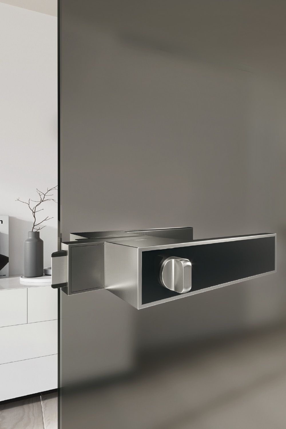 For The Minimalist Frame Handle Concept There Is Now Also A Lock For All Glass Doors The Lock Is Hardly Bigger Than A Matchbox Tur Mit Glas Glas Innenturen