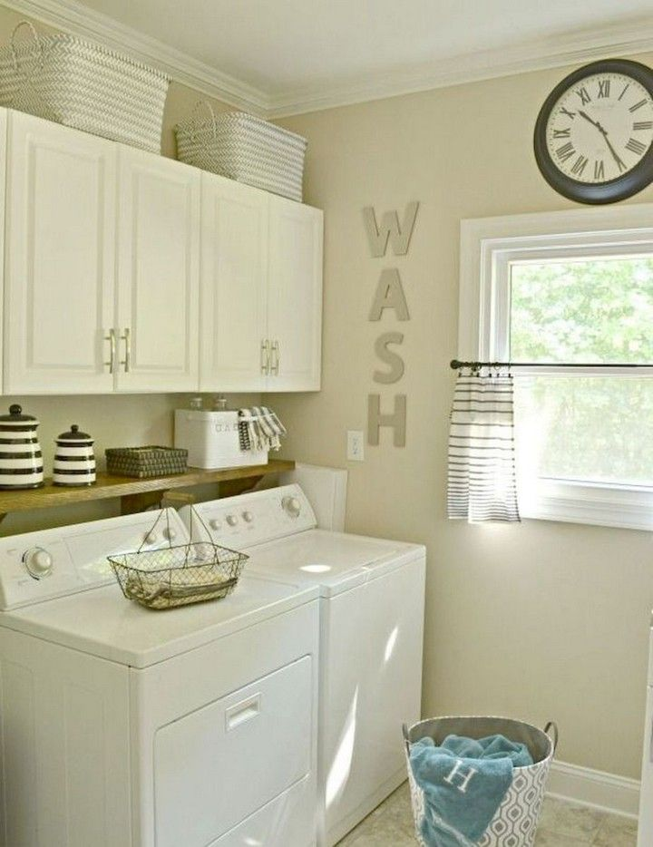 10+ Modern Farmhouse Laundry Room Reveal #laundryrooms