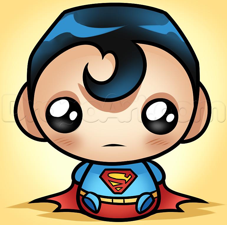 Coloriage Batman Kawaii.How To Draw Kawaii Superman Teksten En Knutselen Kawaii Drawings