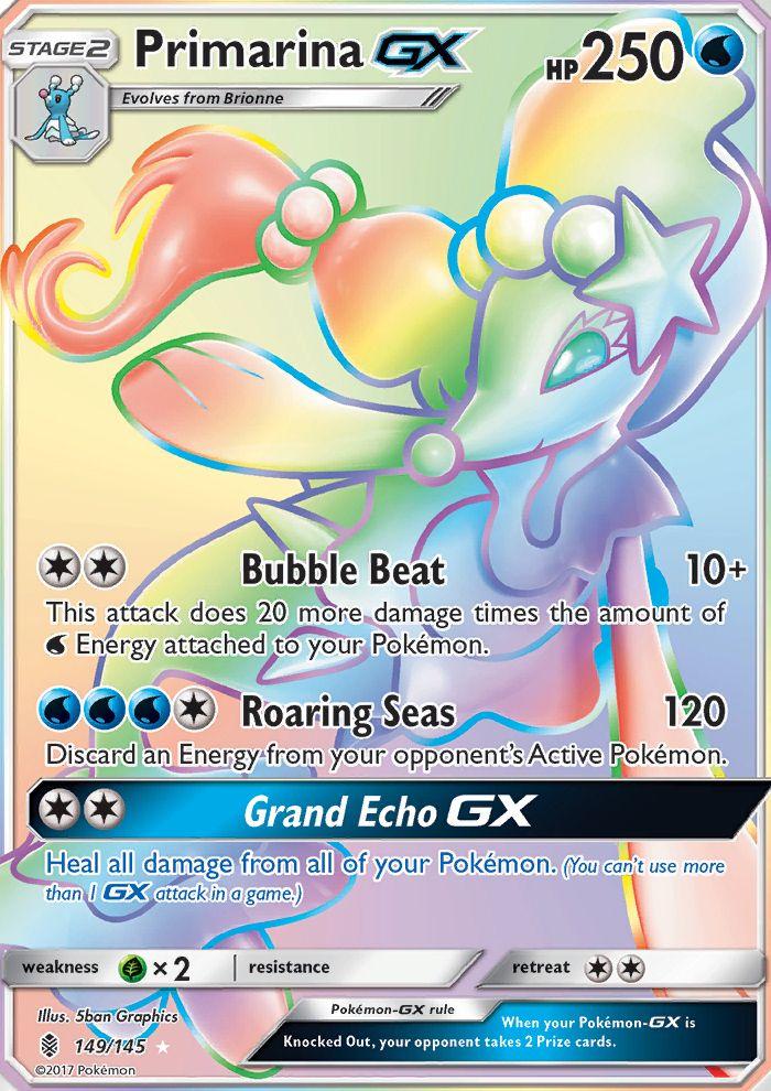 Primarina Gx Guardians Rising Gri 149 Pkmncards Cool Pokemon