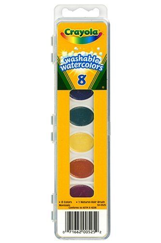 Crayola Washable Watercolor Paint Set 8 Colors Brush Included