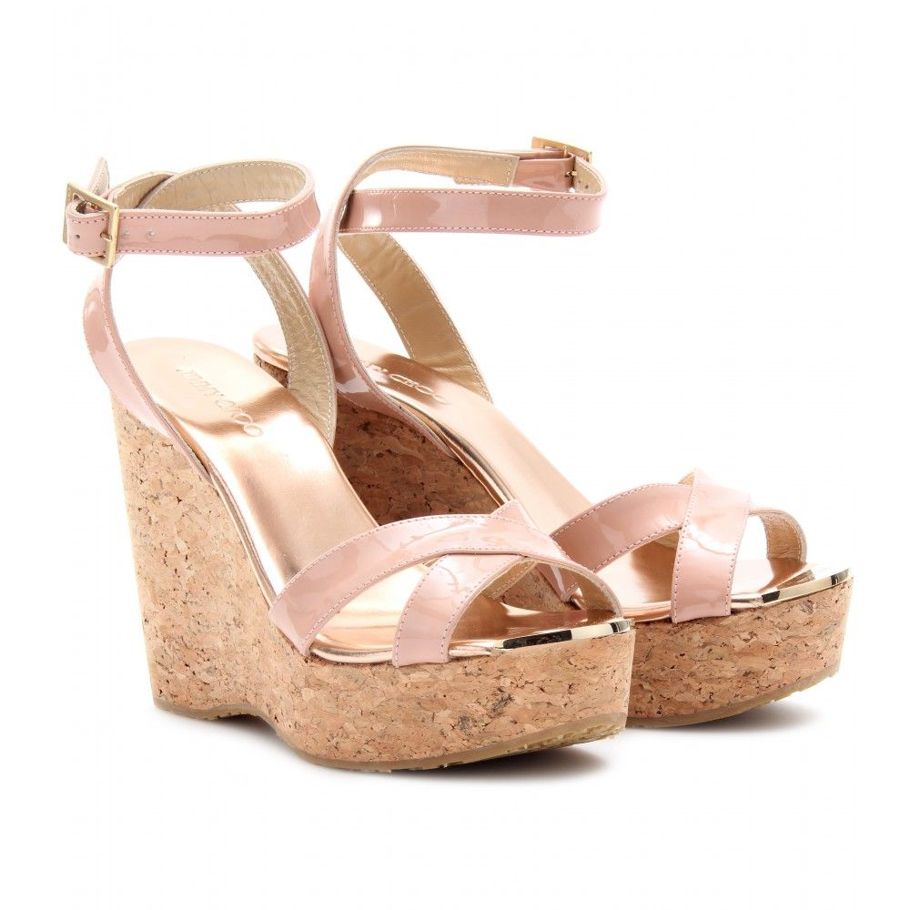 PAPYRUS PATENT LEATHER WEDGES  seen @ www.mytheresa.com