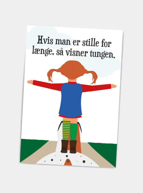 Hvis Man Er Stille For Laenge Postkort Plakater Med Tidens Sjove Citater Sjove Citater Kloge Citater Motiverende Citater