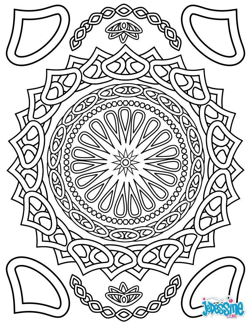 Coloriages pour adulte coloriage pour adulte just for fun mandala coloring mandala - Mandala pour adulte ...