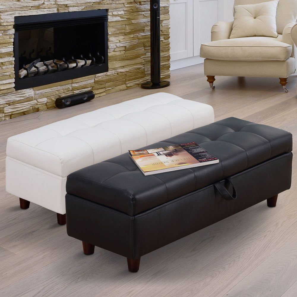 Details About Ottoman Storage Bench Stool Bed End Hallway Blanket