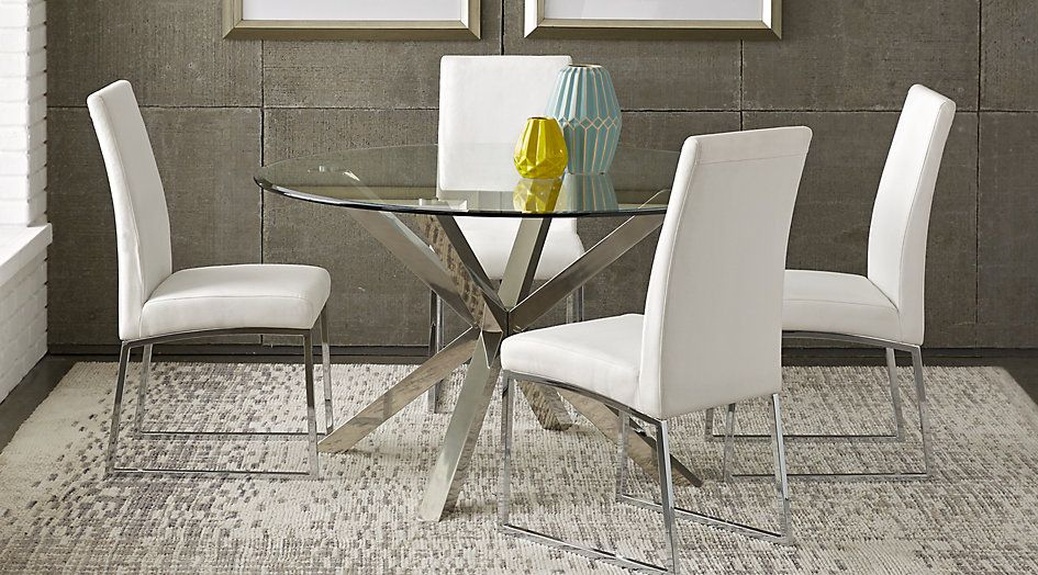 Jules White 5 Pc Dining Set Dining Room Sets Metal Dining Room