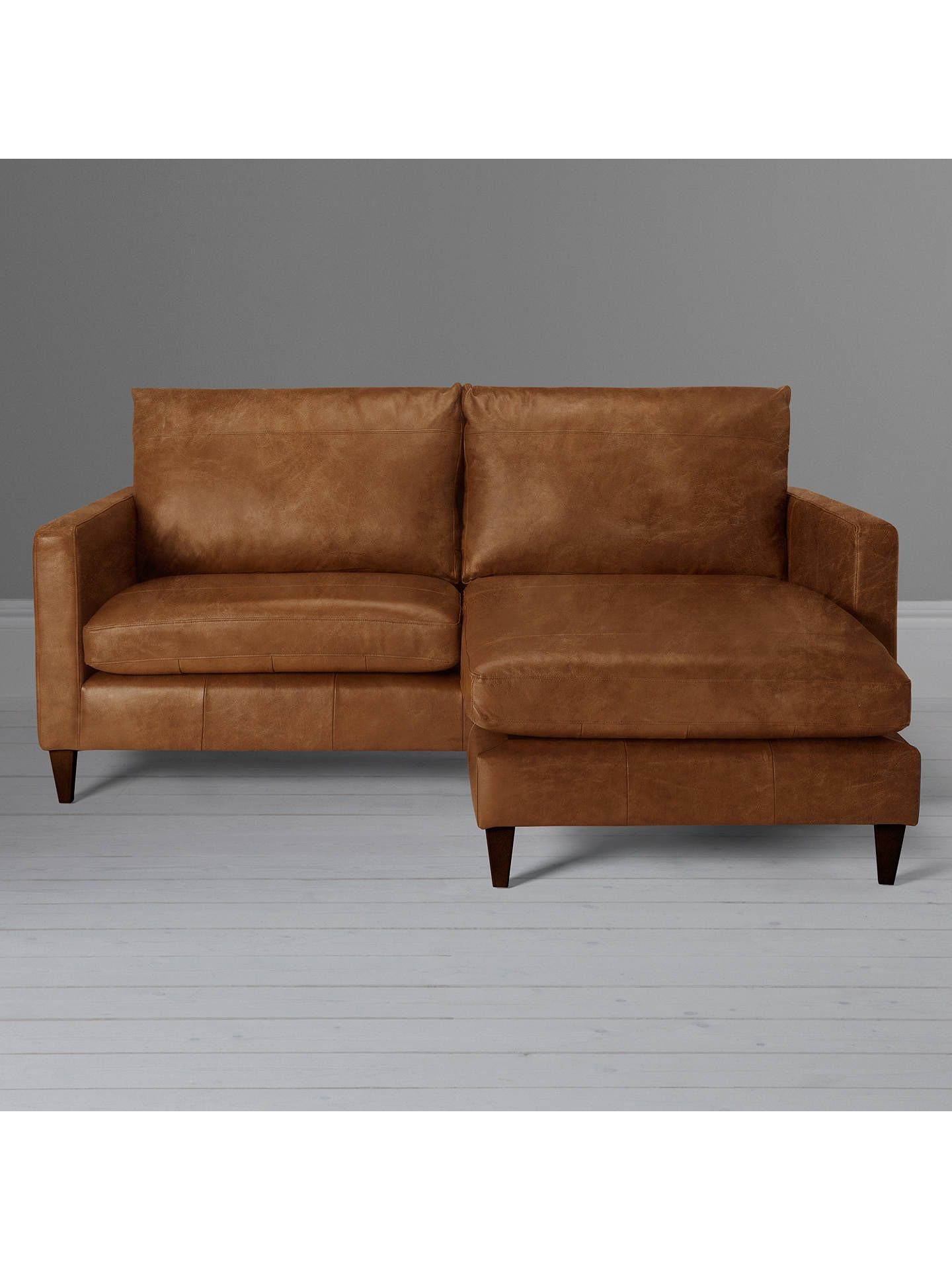 Stupendous John Lewis Partners Bailey Leather Rhf Chaise End Sofa Alphanode Cool Chair Designs And Ideas Alphanodeonline