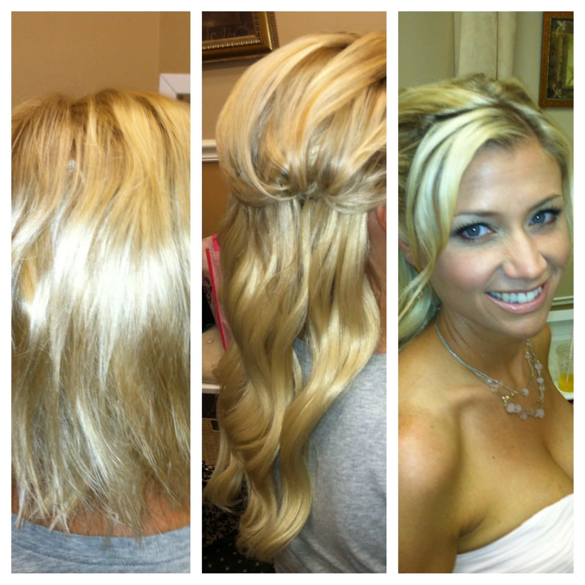 Full Set Removable Hair Extensions Before After By Lara Wedding