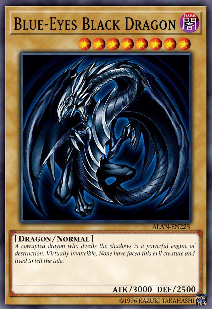 Blue Eyes Black Dragon By Alanmac95 Yugioh Monsters Custom