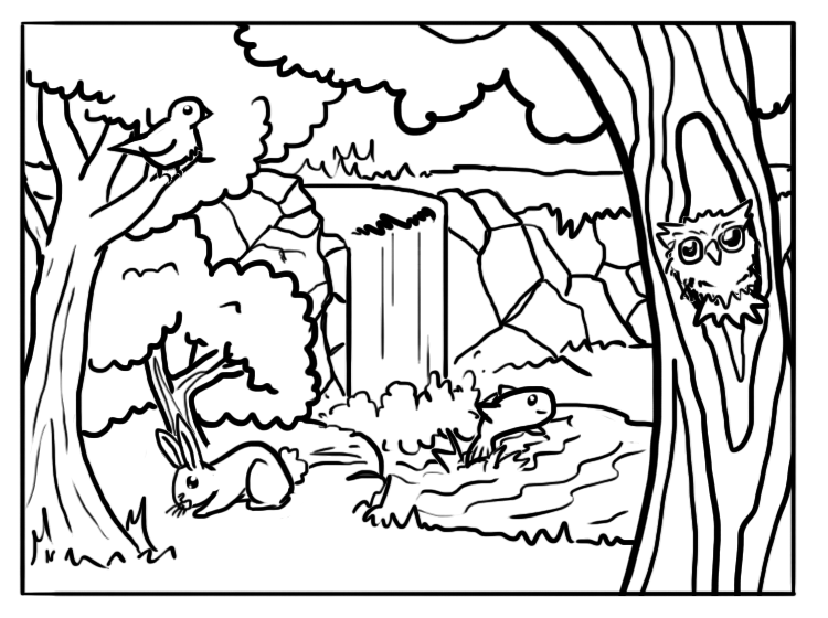 Forest Coloring Pages Best Coloring Pages For Kids Forest Coloring Pages Animal Coloring Pages Horse Coloring Pages