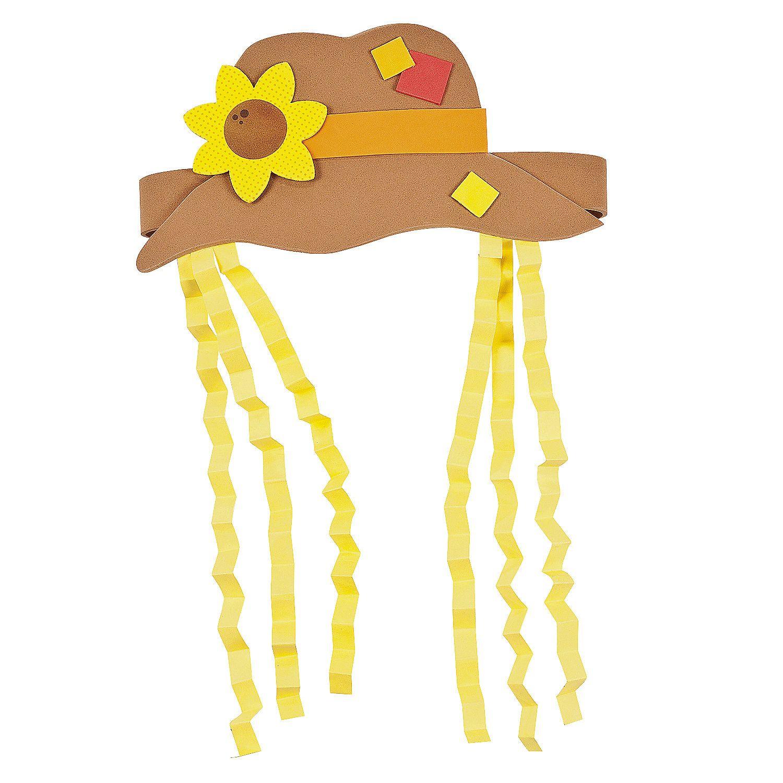 Scarecrow Hat Craft Kit - OrientalTrading.com | halloween ...