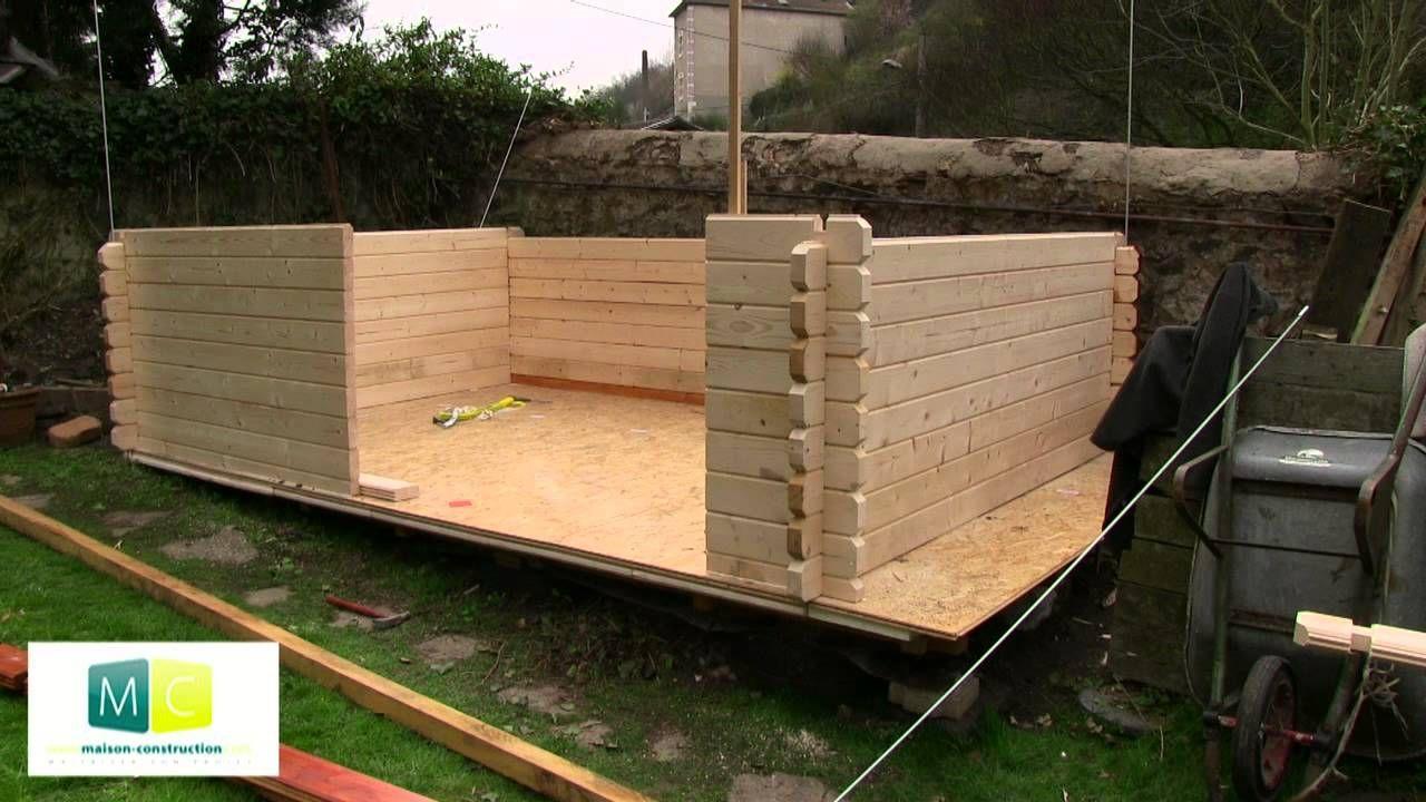 Montage chalet de jardin en bois madriers | idée bricolage | Pinterest