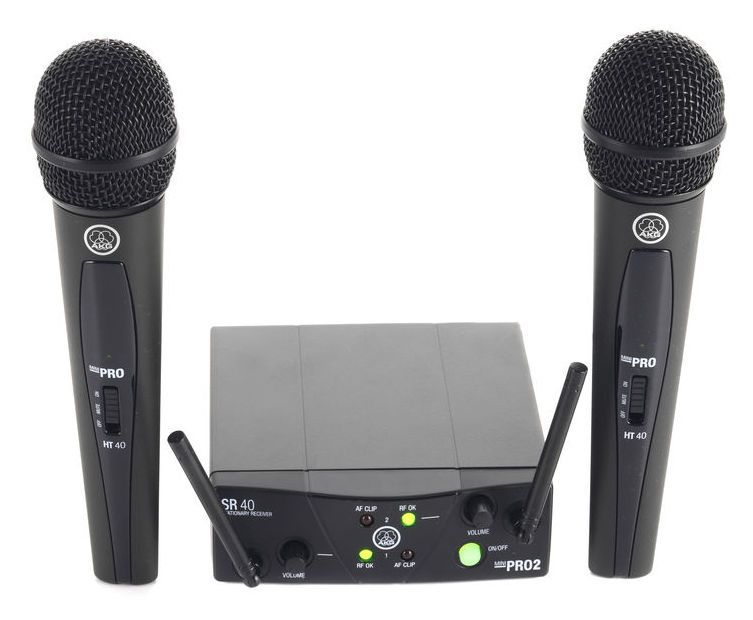 AKG WMS 40 Mini Dual Vocal | PA Gifts for Sound Engineers