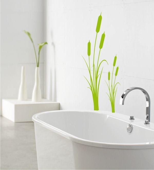 wandtattoos schilf bad badezimmer deko wandaufkleber 9 haus u garten badezimmer bad und. Black Bedroom Furniture Sets. Home Design Ideas