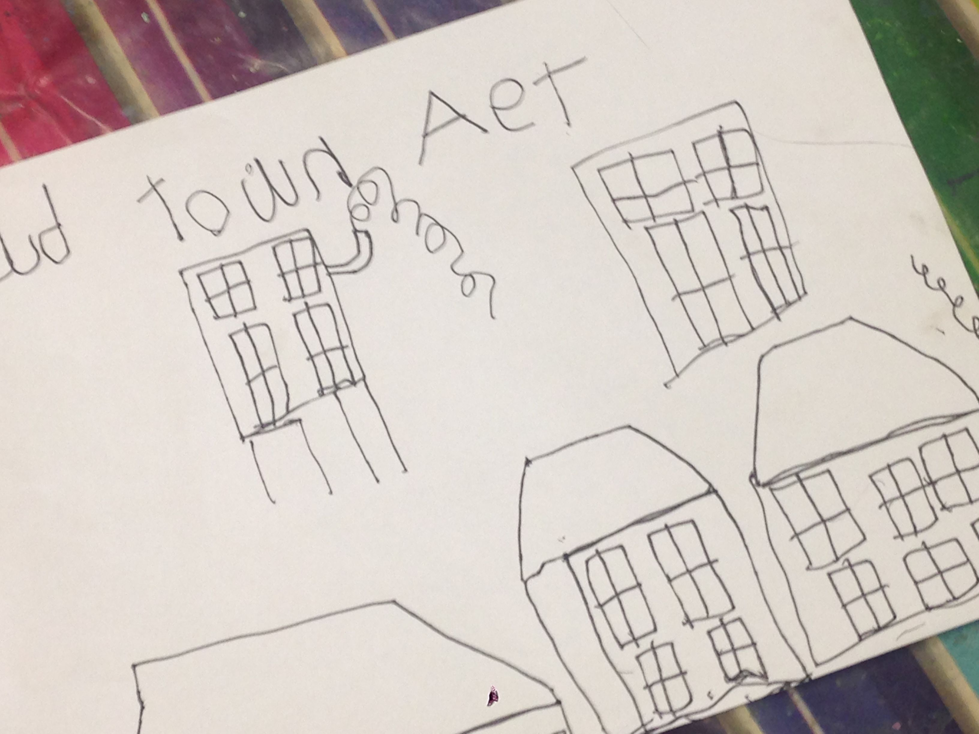 2d One Point Perspective Town Art This Week At Art