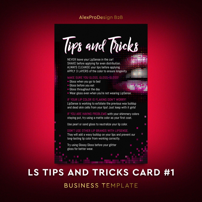 LipSense Tips and Tricks Card, LipSense Application Card, Lipsense ...