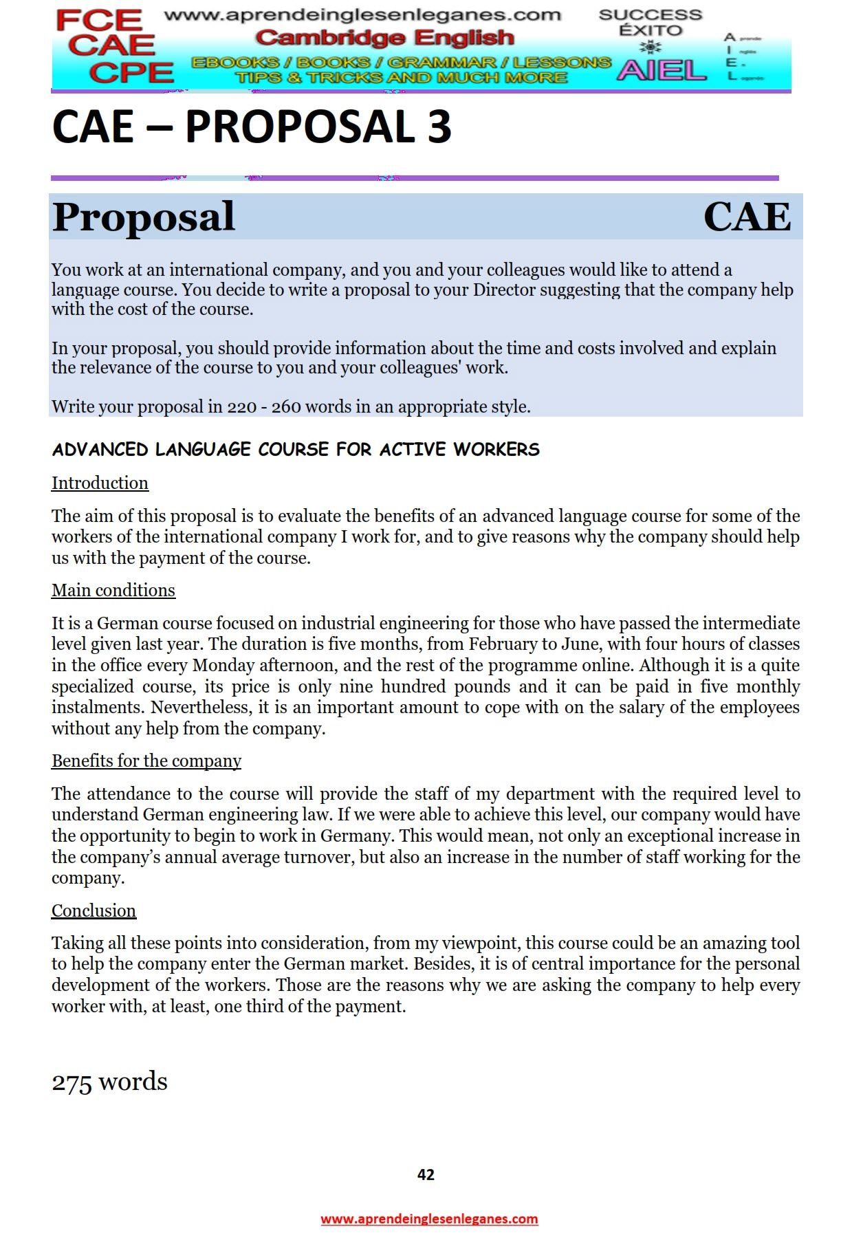 Example essay Example article CAE Writing CAE Writing