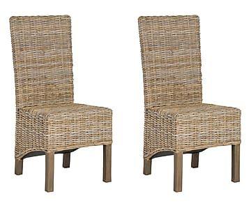 Set de 2 sillas en madera de mango y ratán Pembrooke   At home ...