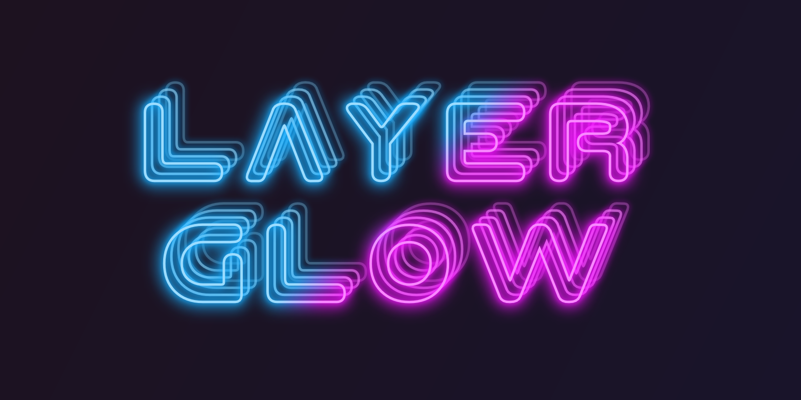 Make online cool text logo effect glow neon text