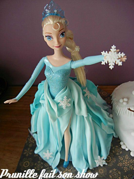 gateau elsa reine neiges prunillefee - Barbie La Reine Des Neiges