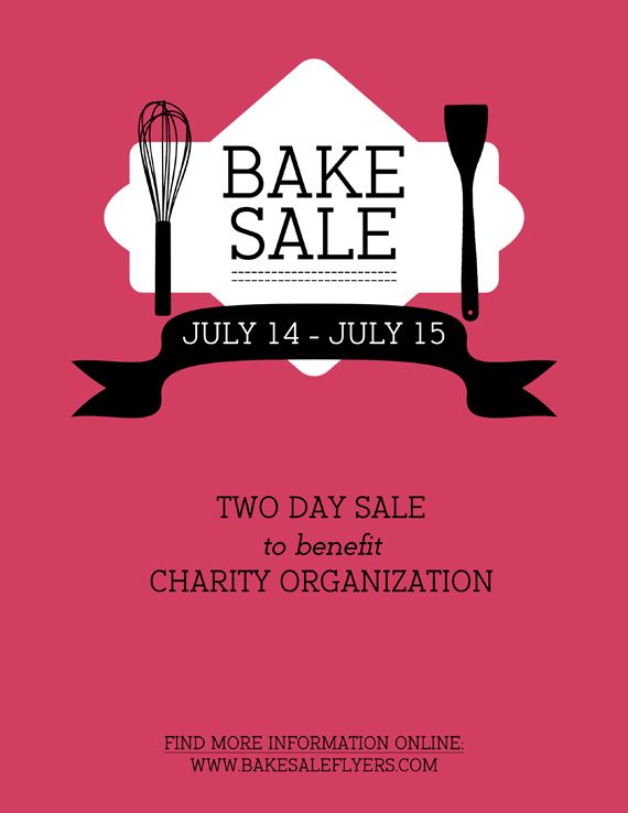 17 Best images about Bake Sale – Sales Flyer Template