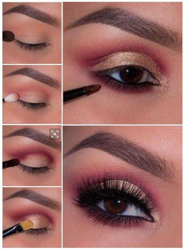 como maquillar ojos cafs oscuros Maquillaje Pinterest Makeup