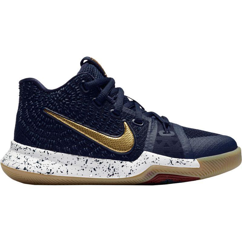 Nike Kids' Preschool Kyrie 3 Basketball Shoes, Size: 11K, Obsidian/Gold