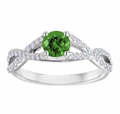 DivaDiamonds Platinum Bypass Emerald and Diamond Engagement Ring (1.00 cttw, F-G, VS) - Size 7 DivaDiamonds,http://www.amazon.com/dp/B00DN6N4CY/ref=cm_sw_r_pi_dp_L18dsb1WCAYXKTB2