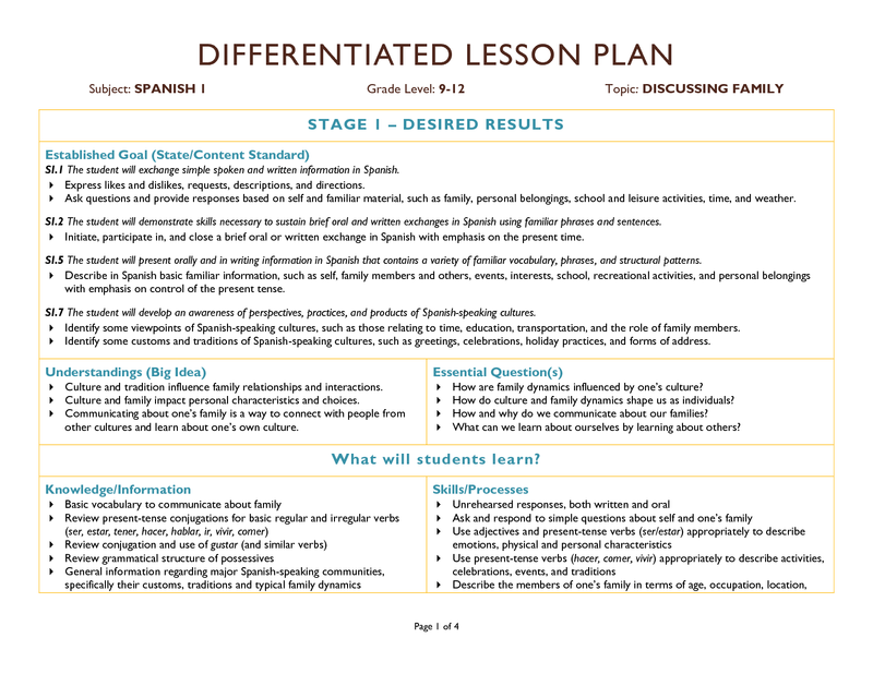 Betterlesson Differentiated Lesson Plans Differentiated Lesson How To Plan