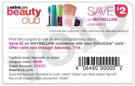 image about Maybelline Coupons Printable titled discount codes issued towards some natural beauty club contributors, exp 07/14/12 i
