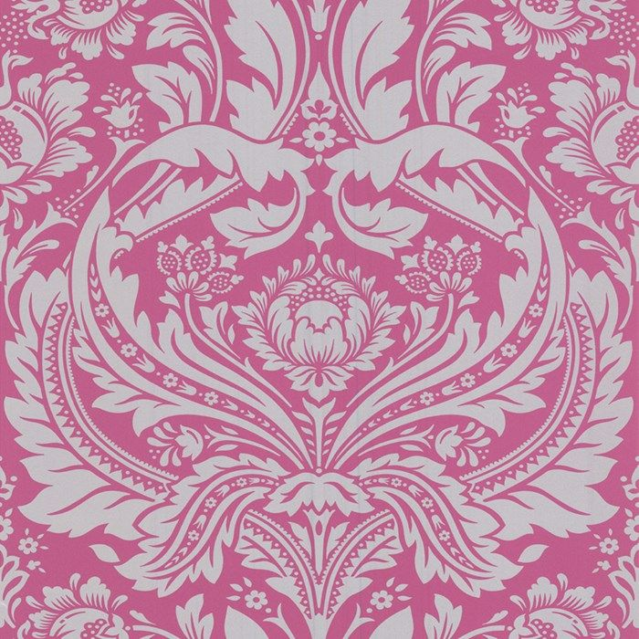 Desire Pink Damask Wallpaper Pink Fashion Wall Coverings