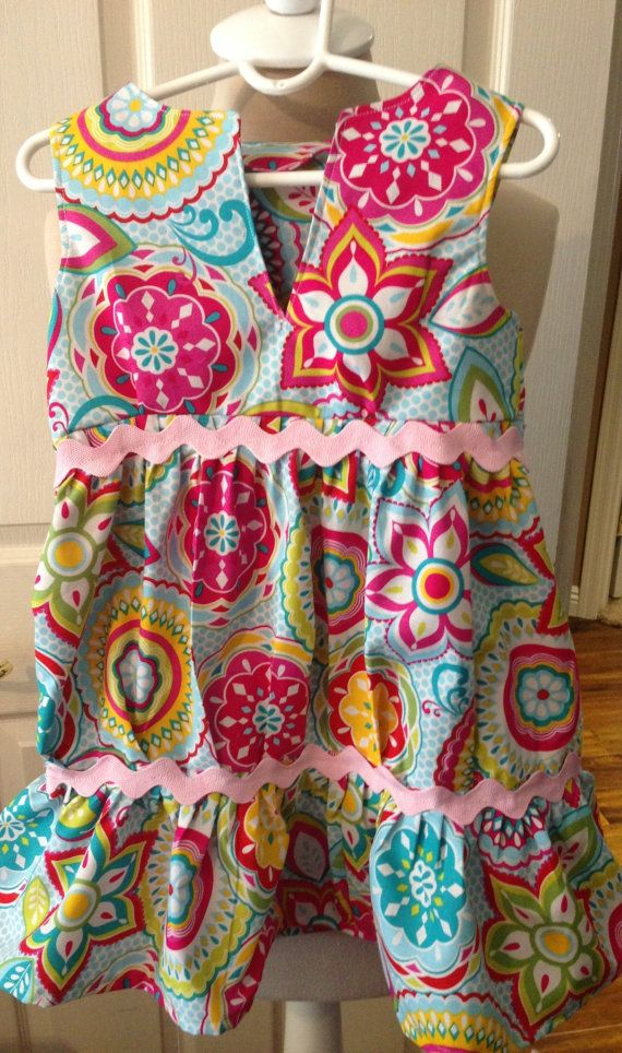 Adorable little girls summer dress by Iminstitches2 on Etsy, $21.95