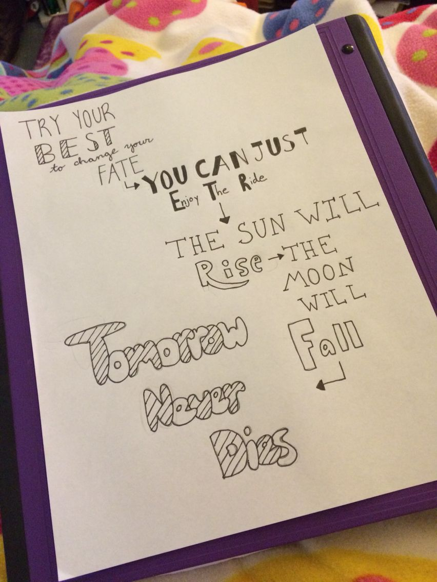 Tomorrow Never Dies 5sos Lyric Art 5sos Lyrics Art Drawing